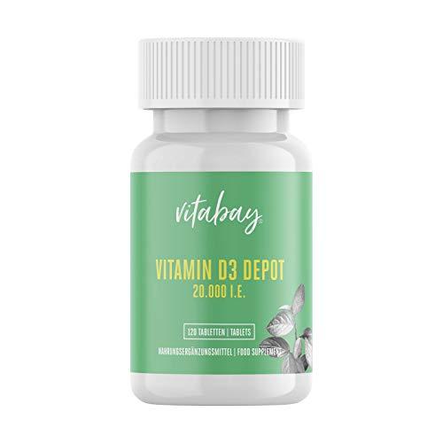 Vitamin D3 Depot 20.000 I.E. (120 Vegane Tabletten)