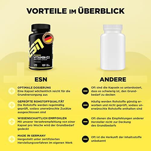 ESN Vitamin-D3, 120 Kaps. - 3