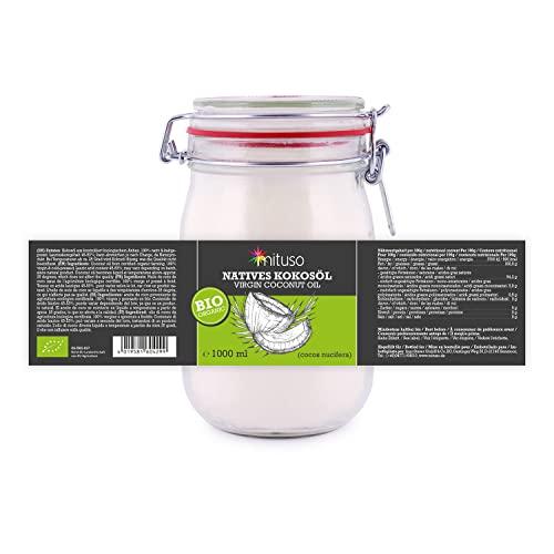 Mituso Bio Kokosöl nativ, 1er Pack (1 x 1 l) - 4