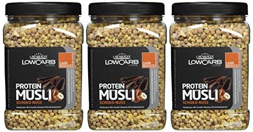 Layenberger LowCarb.one Protein Müsli Schoko-Nuss, 3er Pack (3 x 530 g) - 2