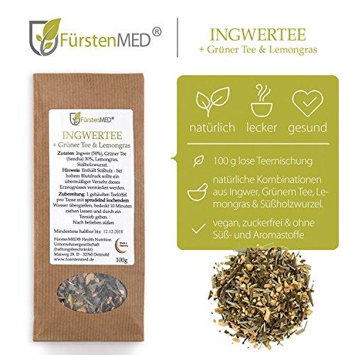 FürstenMED® Natürlicher Ingwertee aus Deutschland – Ohne Zusatzstoffe - 2