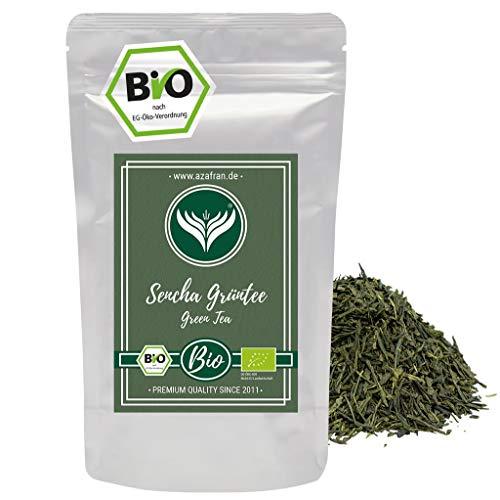 Grüner Tee - Japanischer BIO Sencha Grüntee - Original Uchiyama Sencha aus Japan (250g) von Azafran®