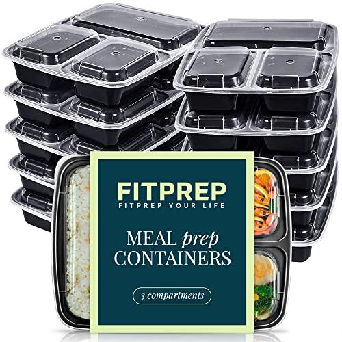 FITPREP® - DAS ORIGINAL [10er Pack] 3-Fach Lunchbox