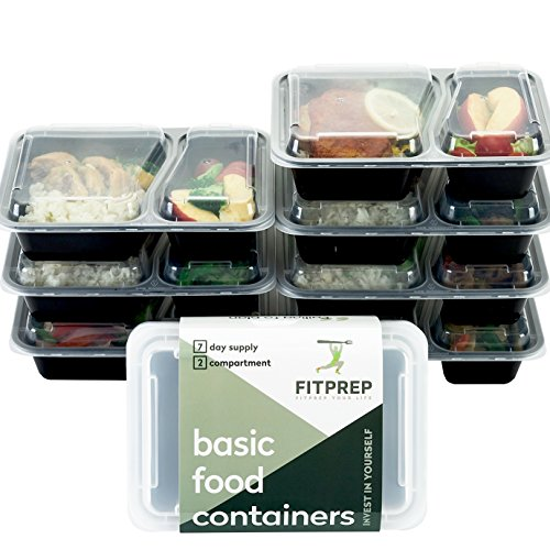 FITPREP [7er Pack] Original 2-Fach Meal Prep Container | Lunchbox