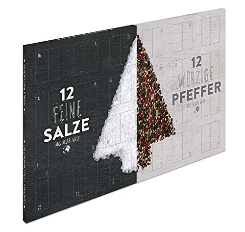 XL Salz und Pfeffer Gourmet Adventskalender - mit 24 Salz und Pfeffer Raritäten aus aller Welt