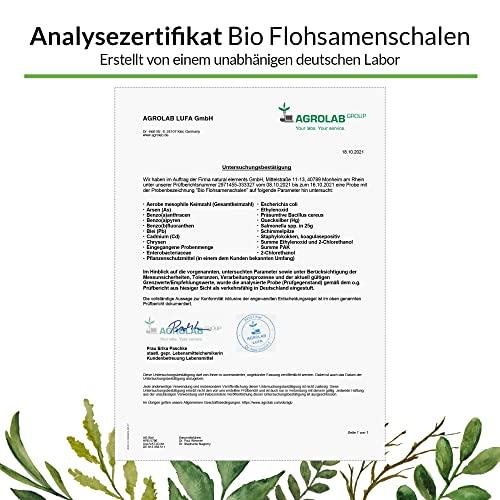 Bio Flohsamenschalen – Premium Qualität – 500g Beutel - 6