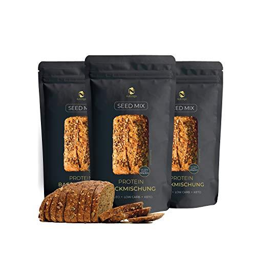 Nutringo - Seed Mix Eiweißbrot Backmischung - 3er Pack
