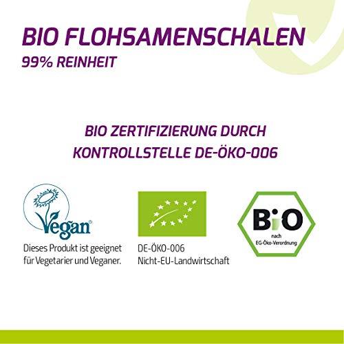 BIO Flohsamenschalen 100% Bio Anbau -1000g Zippbeutel - 4