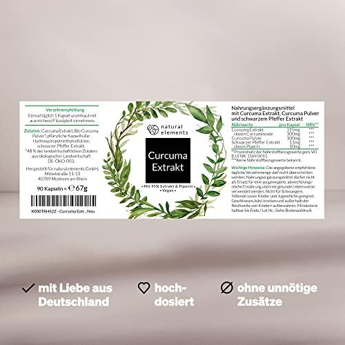Curcuma Extrakt Hochdosiert aus 95% Extrakt – 90 Kapseln - 5