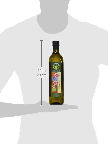 manako ® BIO Leinöl human, kaltgepresst, 100% rein, (1 x 0,75 l) - 3
