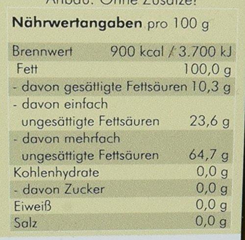 manako ® BIO Leinöl human, kaltgepresst, 100% rein, (1 x 0,75 l) - 4