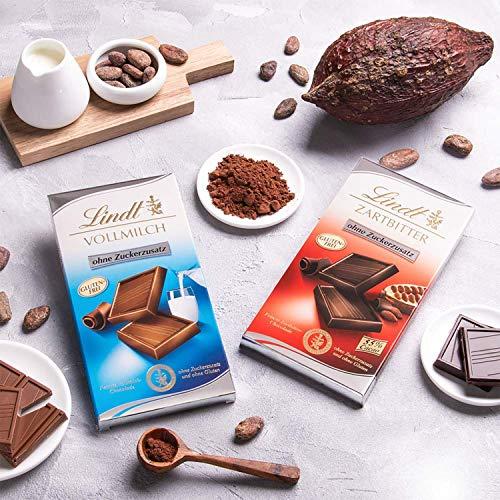 Lindt Zartbitter Schokolade ohne Zuckerzusatz (4 x 100g) - 4