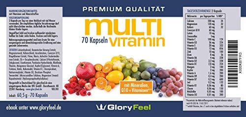 Multivitamine A-Z + Multimineral Komplex + Q10 – 70 vegane Kapseln - 3