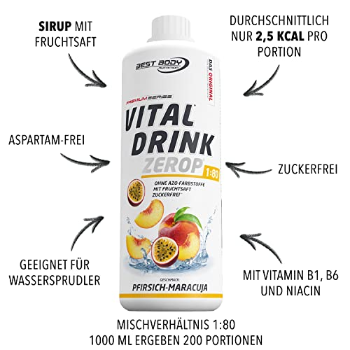 Best Body Nutrition Vital Drink, 1000ml Flasche - 4