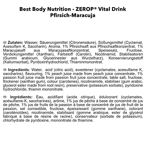 Best Body Nutrition Vital Drink, 1000ml Flasche - 7