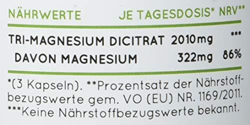 Magnesiumcitrat [ 670 mg pro Kapsel ] - 180 Stück