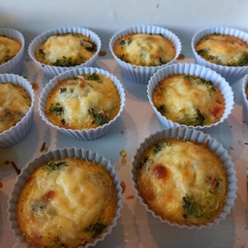 Lowcarb-Ei-Gemuese-Muffin