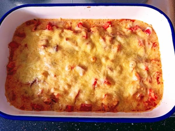 Rezept: Ofen Hähnchen mit Paprika
